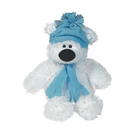 "Plush Holiday Polar Bear - Large (Sitting, 11"".) Stocking Stuffers & Plush Toys"