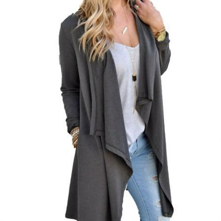 Women Winter Long Sleeve Loose Coats Parka Overcoat Jacket Cardigan Outwear Tops Warm Blouse