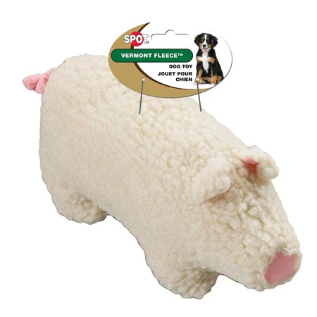 Vermont Fleece Dog Toy, 6-Inch, Farmyard Animal, Assorted, 6 Fleece Farmyard Assortment in Natural Color By Ethical Pet