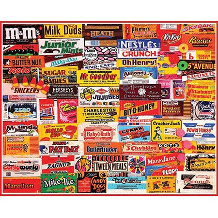 White Mountain Puzzles Candy Wrappers   1000 Piece Jigsaw Puzzle