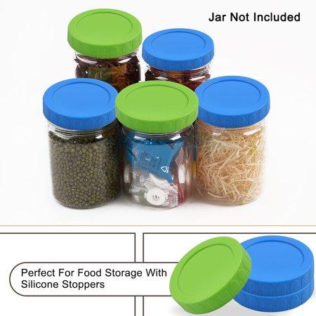 Colored Mason Jars Wholesale (Colored Plastic Mason Jar Lids Wide Mouth Mason Ball Canning Jars Food Storage Replacement 4)
