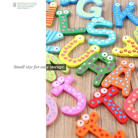 Fridge Wooden Magnet Baby Children Toy A-Z ABC Educational Alphabet 26 Letter - image 11 of 11