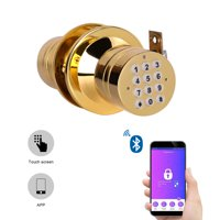 Advanced Security Bluetooth Smart Lock with Key Pad Low Battery Inform Golden
