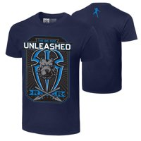 "Official WWE Authentic Roman Reigns ""Big Dog Unleashed""  T-Shirt Navy Blue Small"