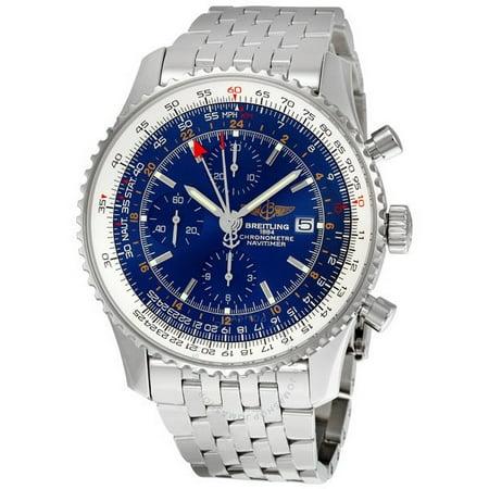 Breitling Navitimer World Blue Dial Mens Watch A2432212-C651SS