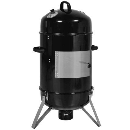 Best Choice Products 3-Piece 43-inch Outdoor BBQ Charcoal Vertical Design Smoker, Black ()