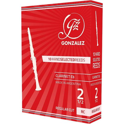 Gonzalez Regular Cut Eb Clarinet Reeds Box of 10 Strength 2