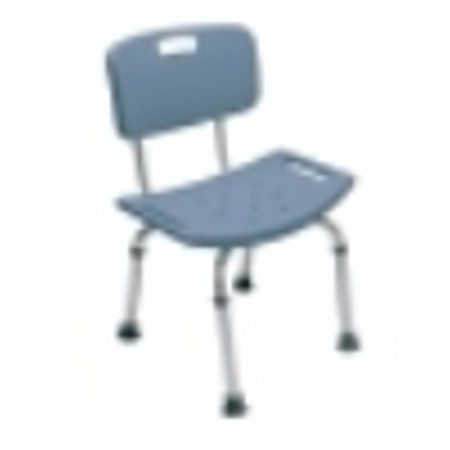 Lumex 7921RB-1 Platinum Collection Bath Seat with Backrest, Steel Blue, Retai.