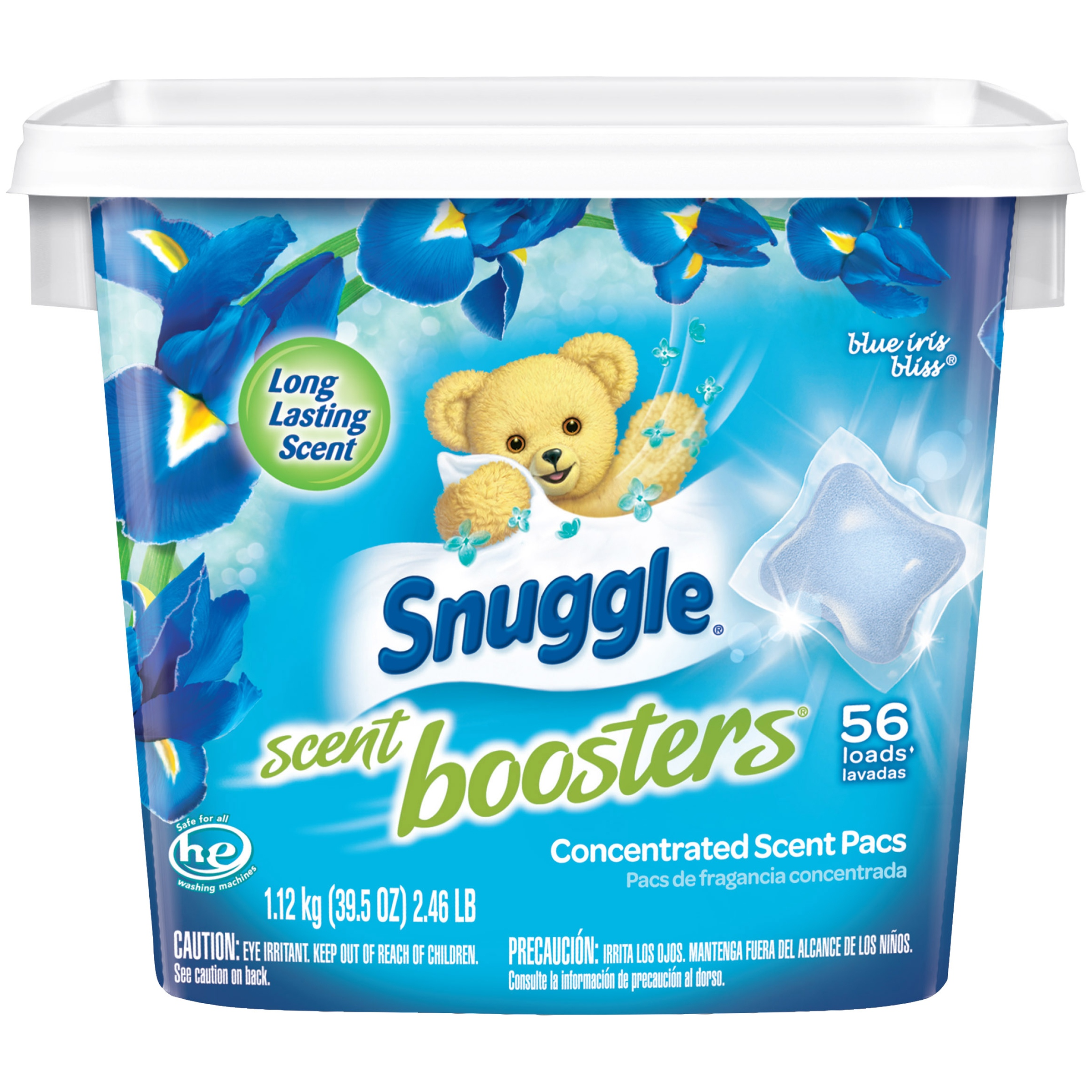 Snuggle Concentrated Pacs Scent Boosters, Blue Iris Bliss, 56 Count