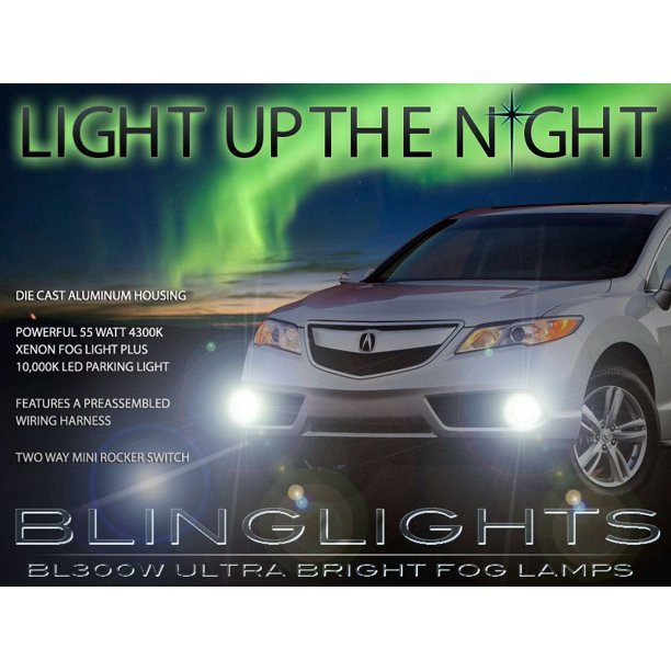 2013 2014 2015 Acura RDX Xenon Fog Lamps Driving Lights