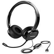 Mpow 071 USB Headset, Lightweight 3.5mm Computer Headset with Microphone Noise Cancelling