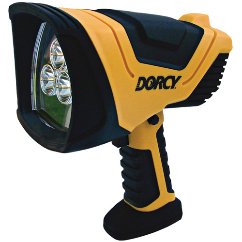 Dorcy 500-Lumen LED Rechargeable Spotlight with Charging Adapter