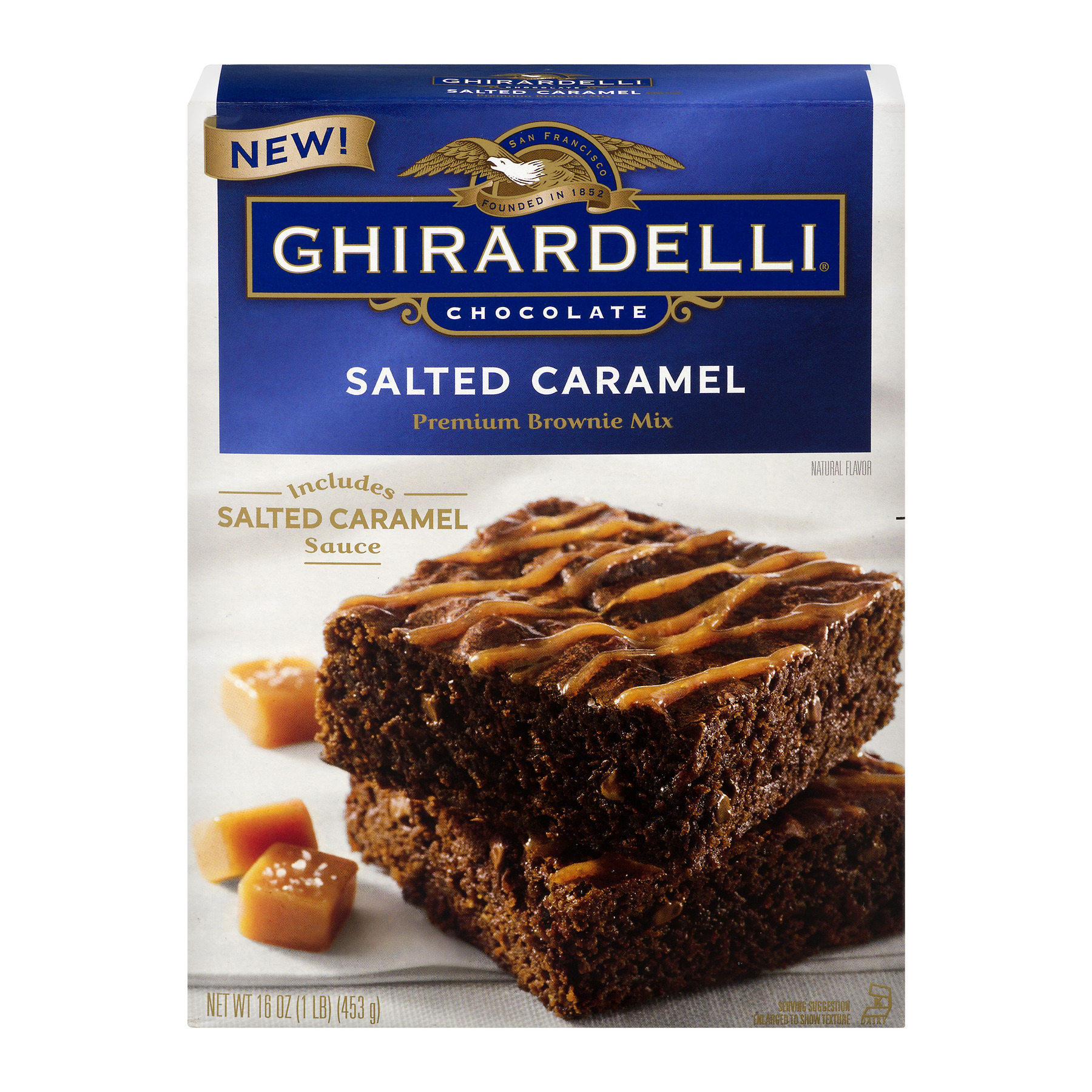 Ghirardelli Chocolate Premium Brownie Mix Salted Caramel, 16.0 OZ