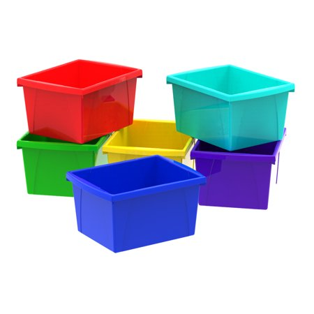 4 Gallon/15L Classroom Storage Bin, Assorted Colors (6 units/pack)](Classroom Storage)
