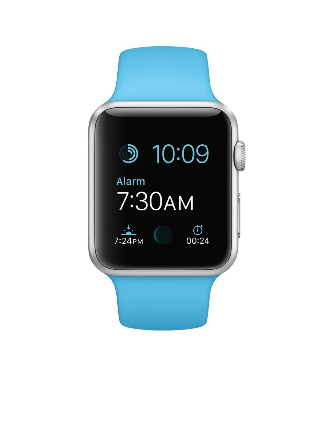 Apple Watch 42mm Silver Aluminum Case with Blue Sport Band by Apple