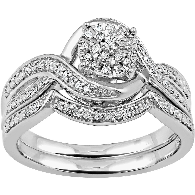 Forever Bride 1/4 Carat T.W. Sterling Silver Bridal Set