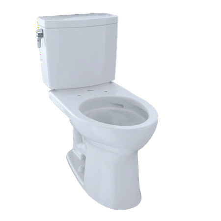 TOTO® Drake® II 1G® Two-Piece Elongated 1.0 GPF Universal Height Toilet with CeFiONtect™, Cotton White -