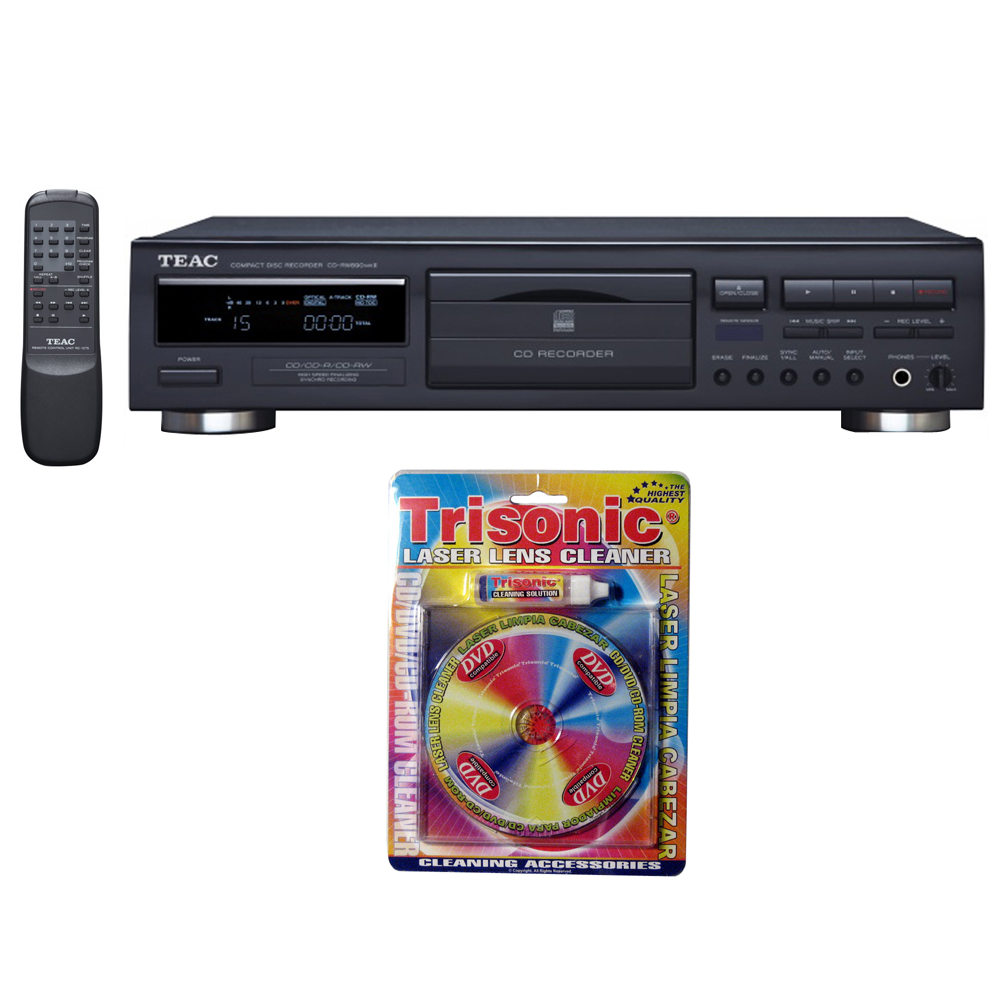 Teac CD Recorder with Remote (6-CD-RW890MK2-B) with Trisonic Laser Lens