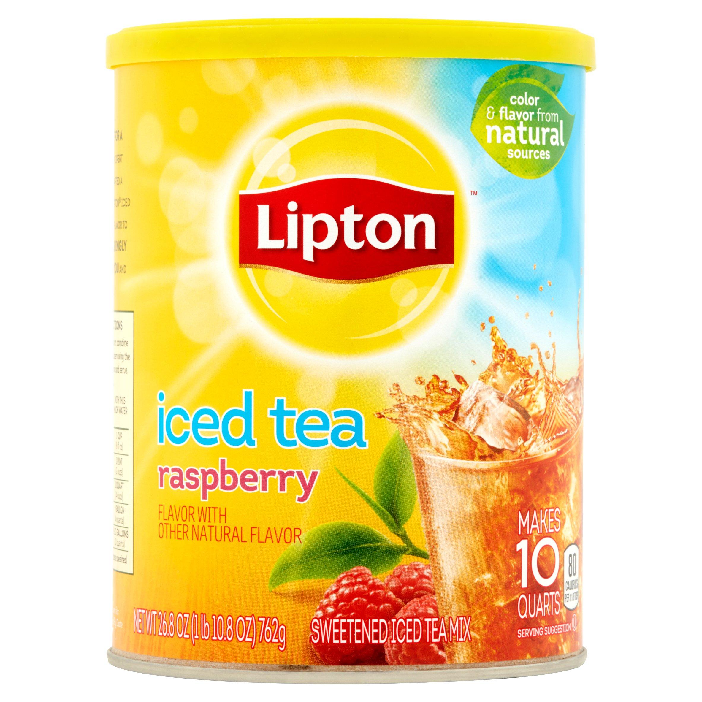 Lipton Wild Raspberry Sugar Sweetened Iced Tea Mix, 28.3 Oz