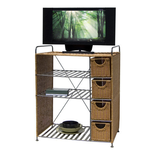 Organize It All Wicker TV Stand