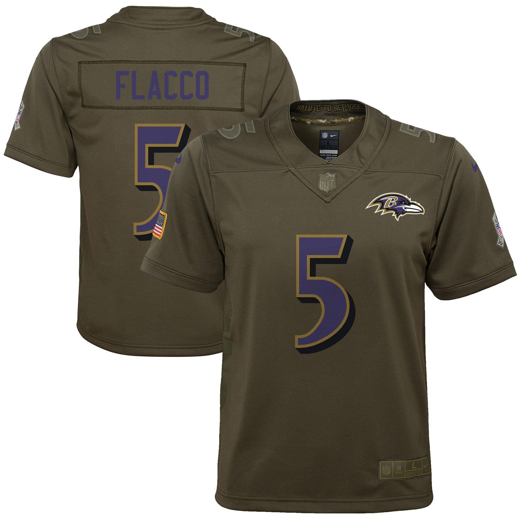 Joe Flacco Baltimore Ravens Nike Youth Salute to Service Game Jersey - Olive - Walmart.com