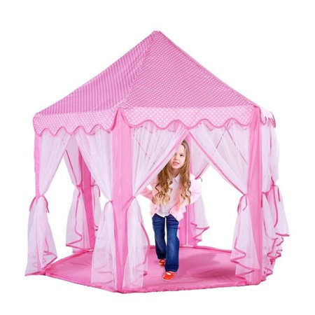 Greensen Tents for Girls, Kids Play Tent Princess Castle Play House Portable Children Outdoor Indoor Pink Princess Tent Girls Large Playhouse Birthday Gift - image 6 of 11