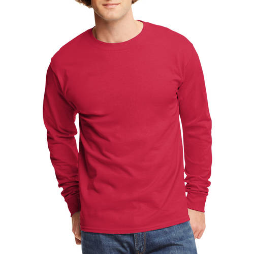 Boulder Creek Mens Big /& Tall Heavyweight Long-Sleeve Pocketless Crewneck Tee