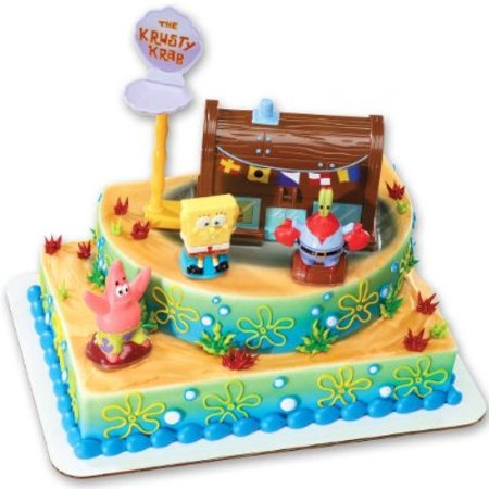 DecoPac SpongeBob Squarepants Krusty Krab Signature Deco Set](Spongebob Cake Toppers)