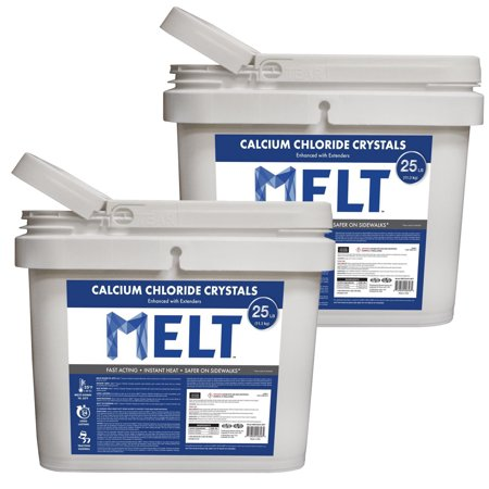 (Snow Joe Melt Ice Removal Calcium Chloride Crystals 25 Pound Bucket (2 Pack))