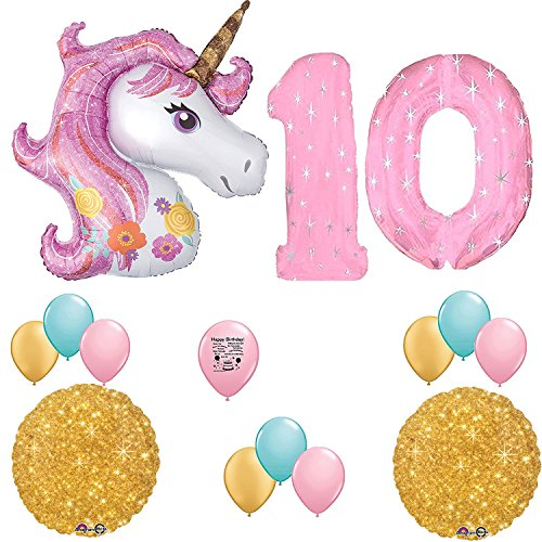 Unicorn Party Supplies Magical Unicorn 10th Birthday Party Balloon Decoration Kit