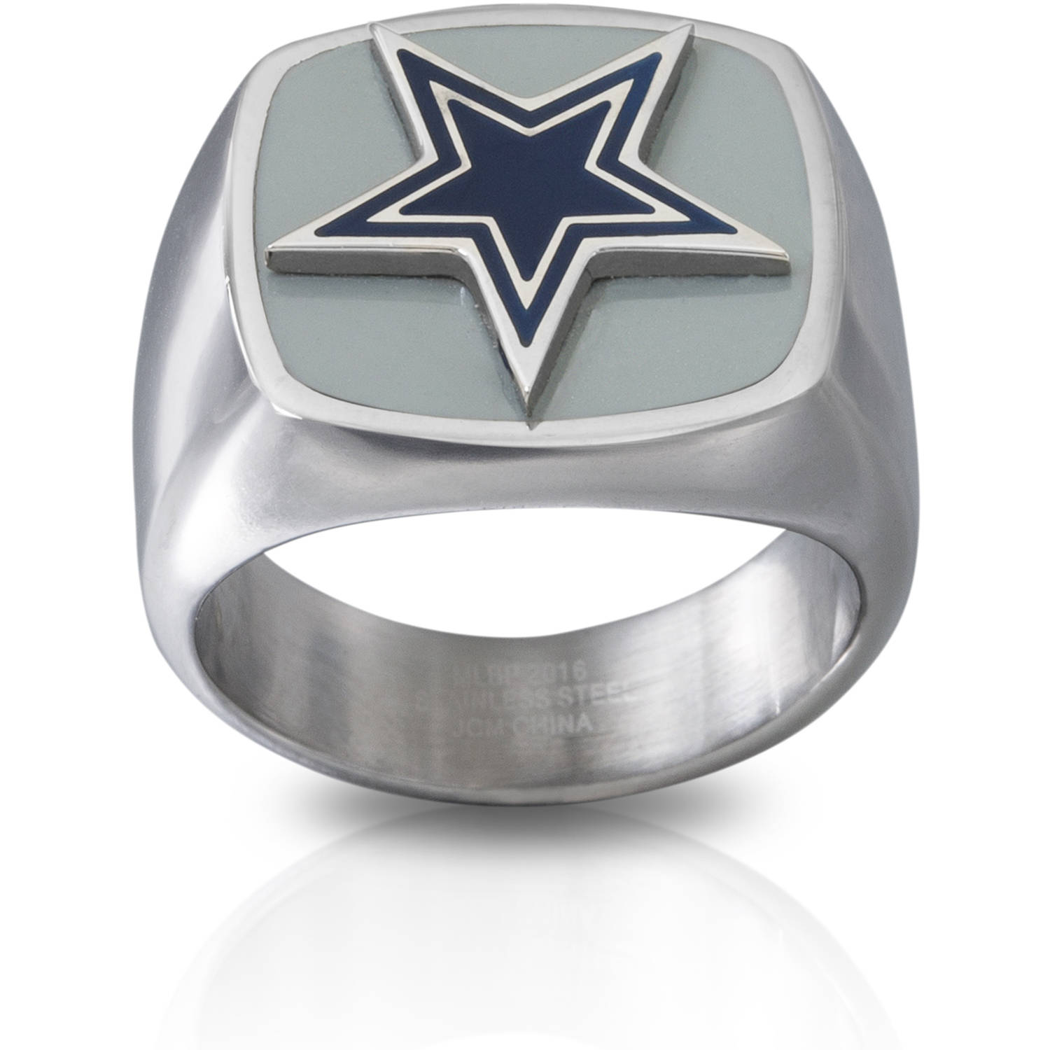 Stainless Steel Licensed NLF Dallas Cowboys Logo Ring Walmartcom