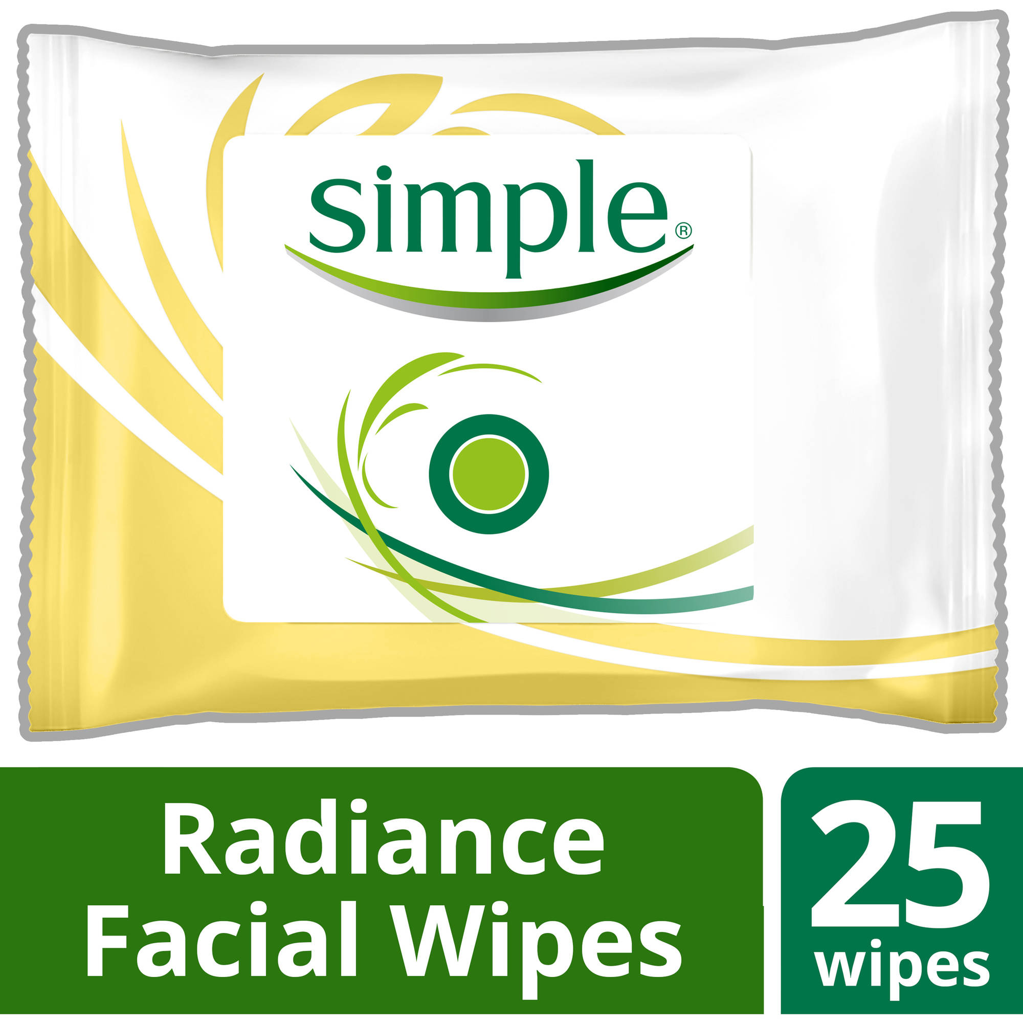 Simple Radiance Cleansing Facial Wipes, 25 ct