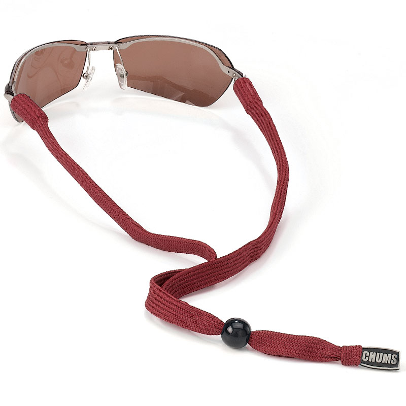 Chums Classic Solid Medium/Large Temples Eyewear Retainer - Maroon
