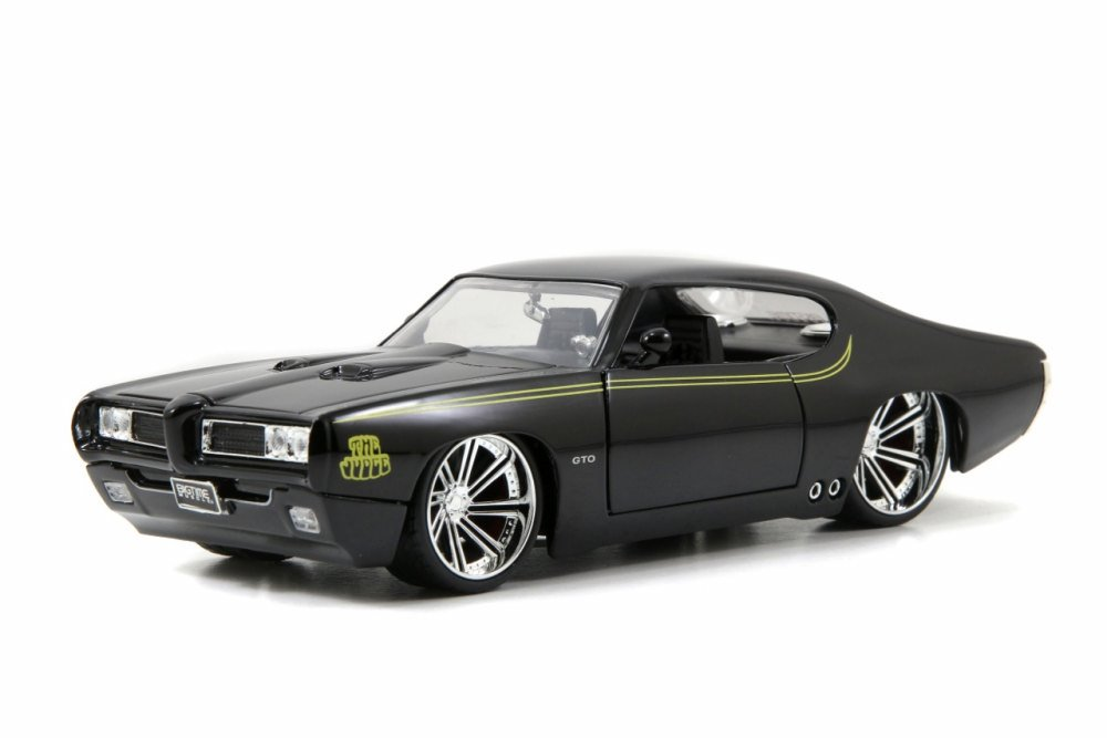 1969 Pontiac GTO Judge, Black Jada Toys 90217 1 24 scale Diecast Model Toy Car (Brand but... by Jada