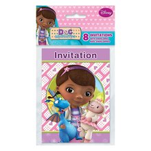 Doc McStuffins Invitations w/ Envelopes - Doc Mc Stuffins Invitations