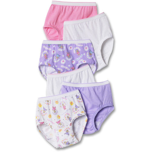 Hanes - Toddler Girls' Assorted Briefs 6-Pack