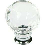 Belwith Bwp3641 Glch 1-.25 In. Knob - Glass - Chrome