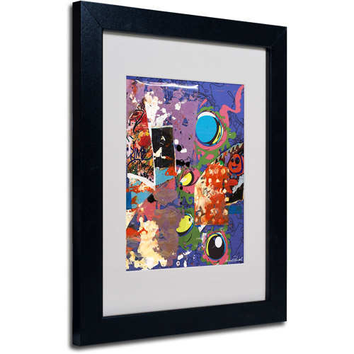 "Trademark Fine Art ""Urban Collage II"" Matted Framed Art by Miguel Paredes"