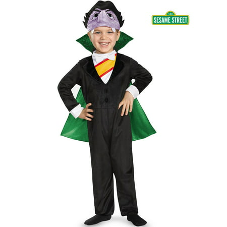 The Count Sesame Street Deluxe Costume for Toddler (Sesame Street Big Bird Halloween Costume)