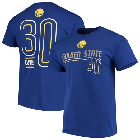 Men's Majestic Stephen Curry Royal Golden State Warriors Spirited Competitor Name & Number T-Shirt