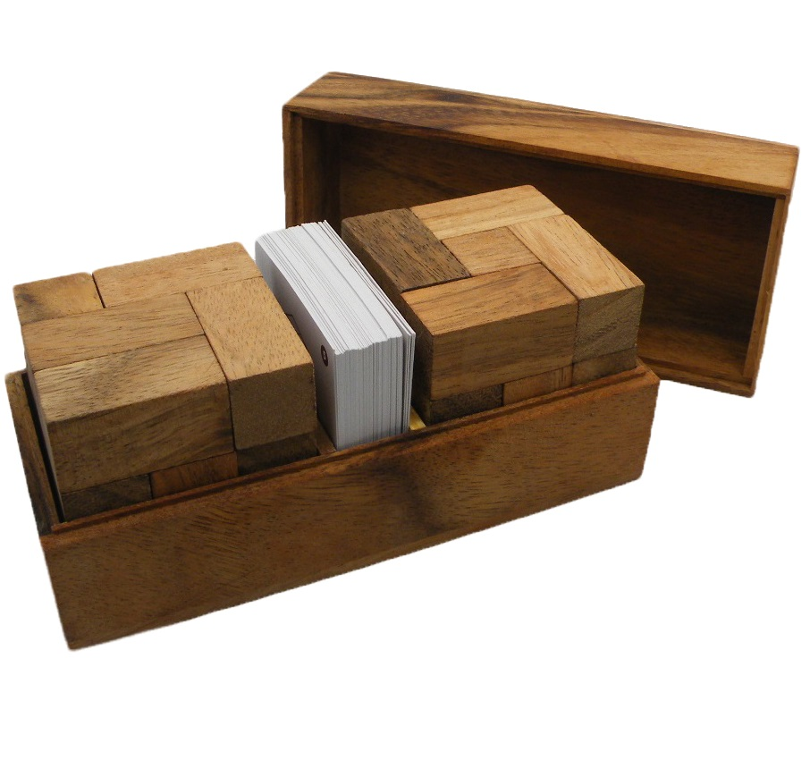 Soma Cube Double With Playing Cards Wooden Puzzle by Winshare Puzzles and Games