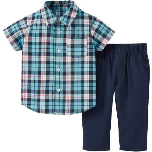 Child of Mine by Carter's Newborn Baby Boys' Shirt and Pant Outfit Set 2 Pieces