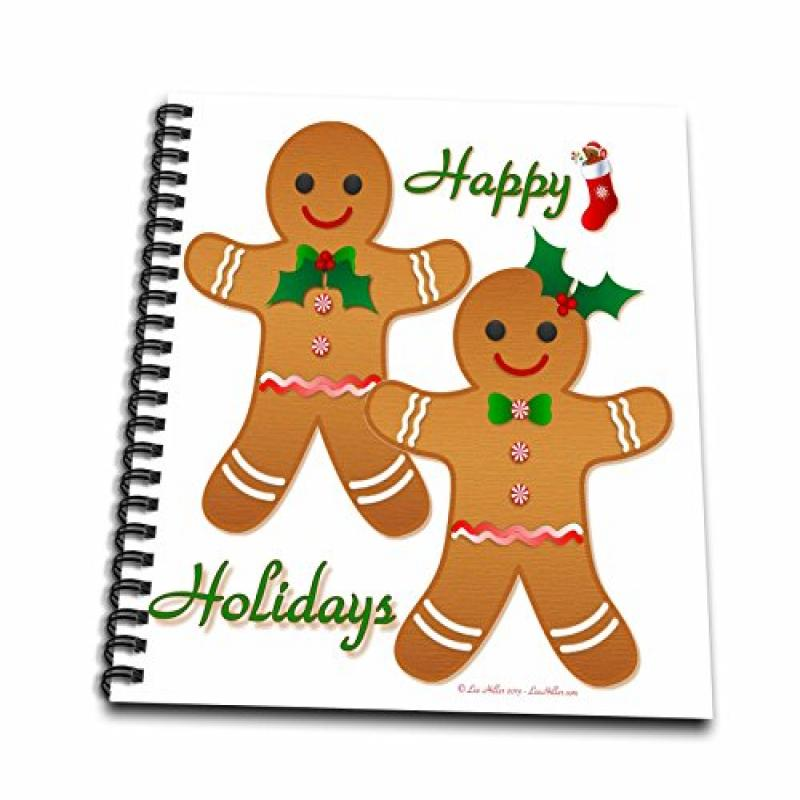 3d Rose 3dRose db_107249_1 Happy Holidays Christmas Ginge...