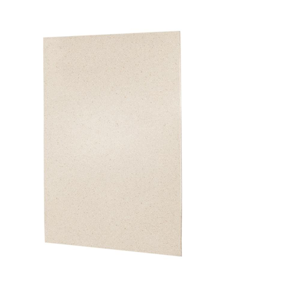 60 in. x 72 in. 1-piece Easy Up Adhesive Shower Wall Panel in Tahiti Sand