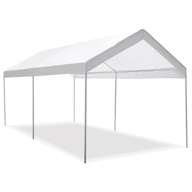 Gymax Steel Frame Party Tent Canopy Shelter Portable Car Carport Garage Cover