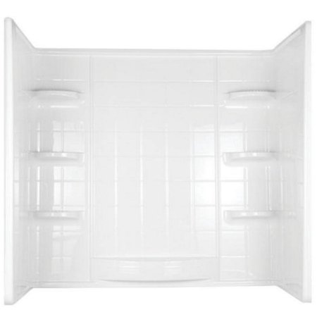 Indulgence 39234 3-Piece Surround Tile Look Bath Tub Wall Kit, 31-1 ...