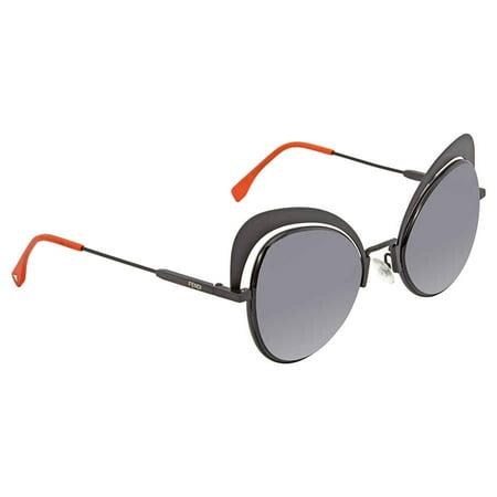 Fendi Eyeshine Grey Gradient Cat Eye Ladies Sunglasses FF 0247/S 807/9O 54