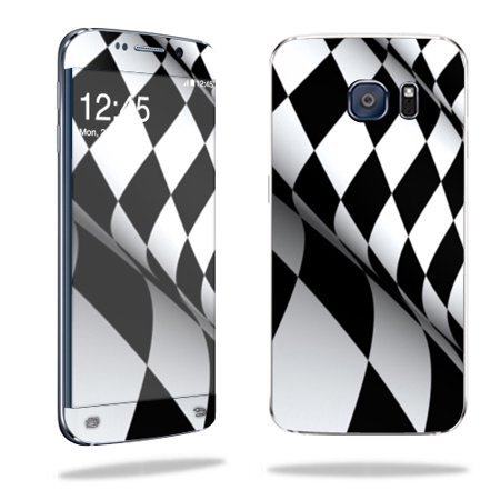 MightySkins Protective Vinyl Skin Decal for Samsung Galaxy S6 Edge wrap cover sticker skins Checkered Flag