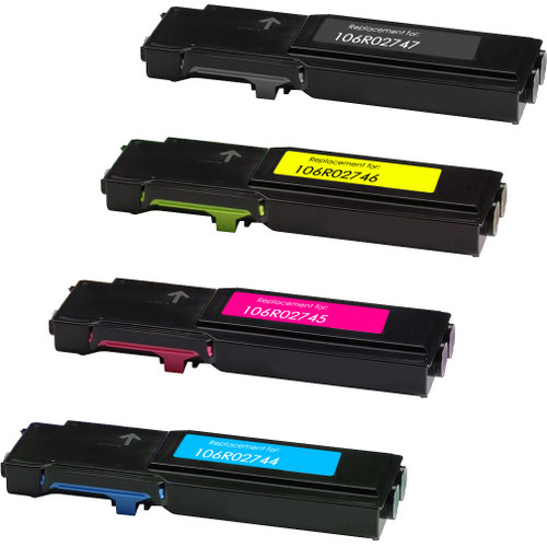 Compatible Xerox 106R02747 / 106R02744 / 106R02745 / 106R02746 toner cartridges - 4-pack