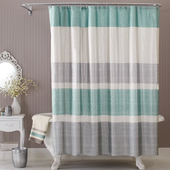 Grey And Turquoise Shower Curtain. Better Homes  Gardens Glimmer Fabric Shower Curtain Walmart com